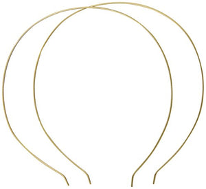 Caravan Thin Gold Silver Headband Pair