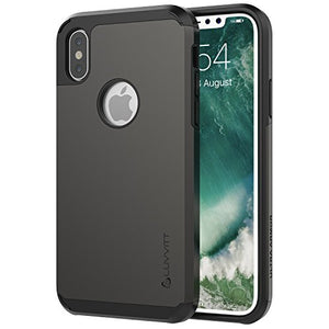 iPhone Xs Case, Luvvitt Ultra Armor Cover with Dual Layer Heavy Duty Protection and Air Bounce Technology for iPhone X and XS with 5.8 inch Screen 2017-2018 - Gunmetal