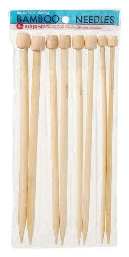 Darice Bamboo Knitting Needles 7, 9, 10, 12