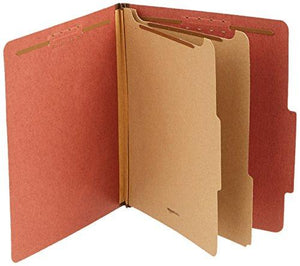 Amazonbasics Pressboard Classification File Folder With Fasteners, Red, 10-Pack