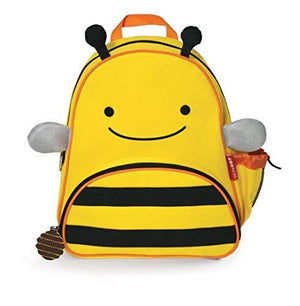 "Skip Hop Toddler Backpack, 12"" Bee School Bag, Multi"