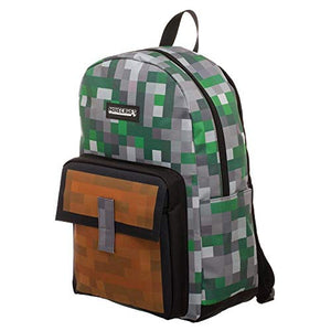 Minecraft Squares Allover Print Backpack Bookbag