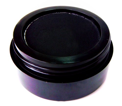 Pure Ziva Matte Black Wet Dry Pressed Powder Cake Eyeliner Eyeshadow, Gluten Free, No Animal Testing, Cruelty Free & Vegan