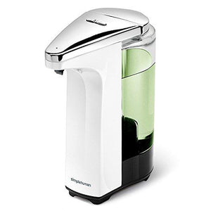simplehuman Compact Sensor Pump with Sample Soap, White, 8oz