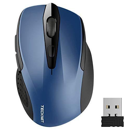 Tecknet Pro 2.4G Wireless Mobile Optical Mouse Nano Receiver 6 Buttons