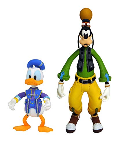 DIAMOND SELECT TOYS Kingdom Hearts 3: Goofy & Donald Action Figure 2 Pack, Multicolor