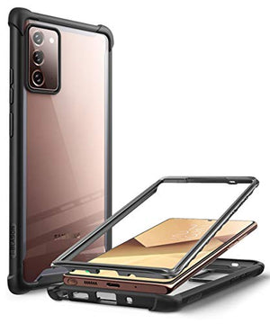 i-Blason Ares Clear Case for Galaxy Note 20 5G 6.7 inch (2020 Release), Dual Layer Rugged Clear Bumper Case Without Built-in Screen Protector (Black)