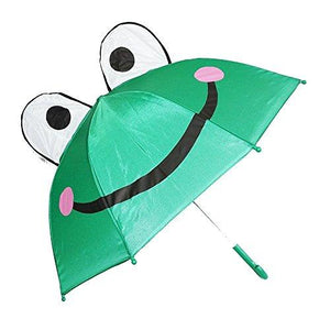 Rhode Island Novelty 3D PopUp Frog Cute Umbrella, Green