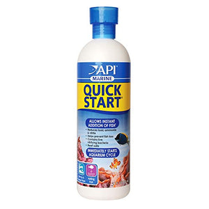 Api Marine Quick Start Saltwater & Reef Aquarium Nitrifying Bacteria 16 Oz Bottle