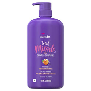Aussie Total Miracle Shampoo, 30.4 Fluid Ounce, Pack of 4