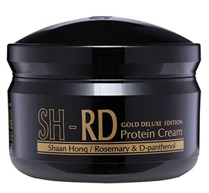 SH-RD Protein Cream Gold Deluxe Edition (2.71oz/80ml) Leave-in Treatment For Hair with Gold Leaf and Deep-Sea Water. UV Protection/Heat Protection/Chlorine Damage Protection.