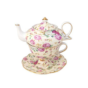 Gracie China By Coastline Imports 4-Piece Porcelain Tea For One