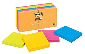 3M Post-It Notes Super Sticky Pads , Rio De Janeiro - 14 Count/Pads