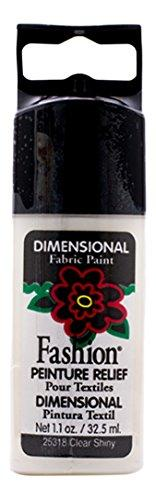 Plaid Fashion Dimensional Fabric Paint In Assorted Colors (1.1-Ounce), 25318 Clear