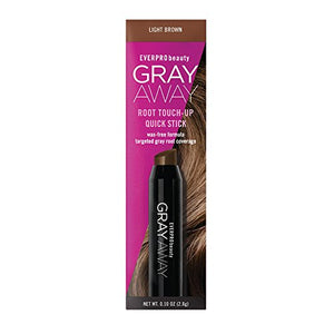 Everpro Gray Away Root Touchup Quick Stick Light Brown 0.10oz, 0.10 Oz