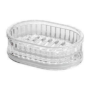 Interdesign Alston Bar Soap Dish For Bathroom Vanities, Kitchen Sink - Clear