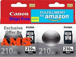 Canon Pg-210Xl Black Ink Cartridge Double Pack