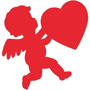 Amscan 196784 Glossy Paper Cupid Party-Decorations, One Size, Red