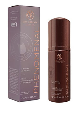 VITA LIBERATA Advanced Organics pHenomenal Tan Mousse, Medium, 4.22 Fl Oz