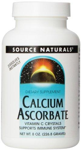 Source Naturals Calcium Ascorbate Vitamin C Crystals, Supports Immune System, 8 Ounces