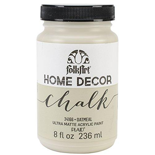 Folkart Home Decor Chalk Furniture & Craft Paint In Assorted Colors (8 Ounce), 34166 Oatmeal