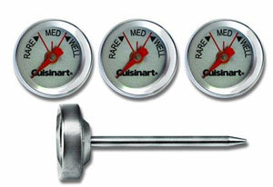 Cuisinart CSG603  Outdoor Grilling Steak Thermometers (Set of 4)  Stainless Steel