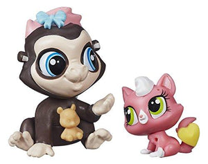 Hasbro Littlest Pet Shop Terrence Konga And Purl Mcsweeney Figurines