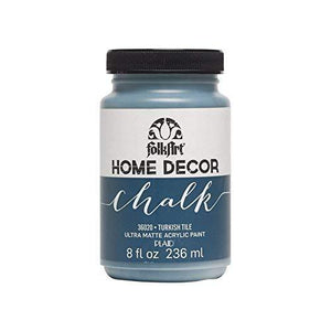 Folkart Home Decor Chalk Furniture & Craft Paint In Assorted Colors (8 Ounce), 36020 Turkish Tile