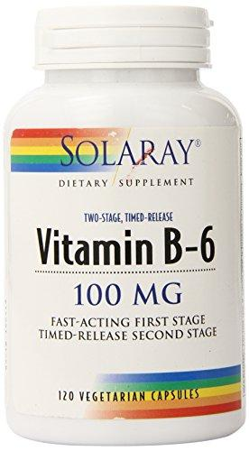 Solaray B-6 Tstr Supplement, 100Mg, 120 Count