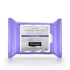 Neutrogena, Cleansing Night Calming Makeup Remover Cleansing Towelettes, 25 Ct