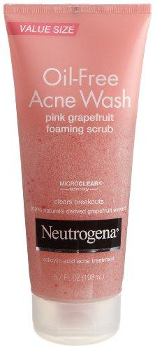 Neutrogena Oil-Free Acne Wash Scrub, Pink Grapefruit, Super Size, 6.7 Ounce (Pack Of 2)