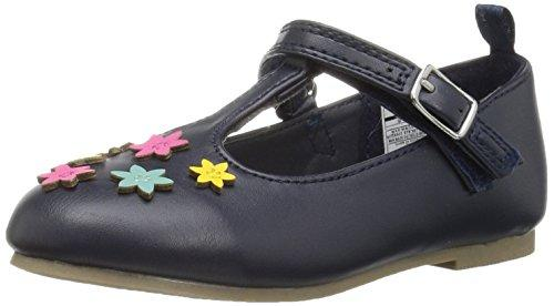 Carter'S Girls' Fiji2 T-Strap Ballet Flat, Navy/Multi, 7 M Us Toddler