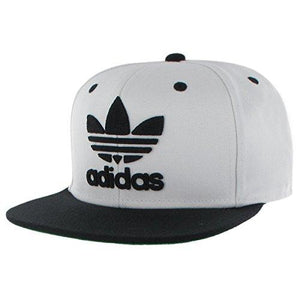 Adidas Originals Men'S Originals Snapback Flat Brim Cap, White/Black, One Size