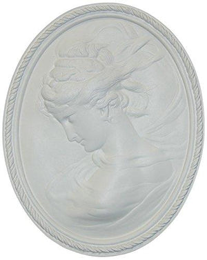 Hickory Manor House Left Facing Cameo Decorative Wall Panel, Bright White