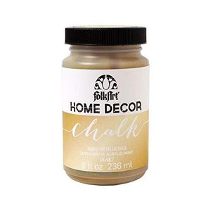Folkart Home Decor Chalk Furniture & Craft Paint In Assorted Colors (8 Ounce), 34804 Metallic Chalk