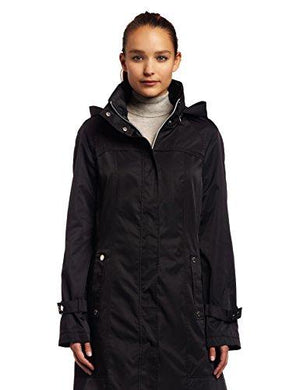Calvin Klein Womens Long Packable Anorak, Black, Medium