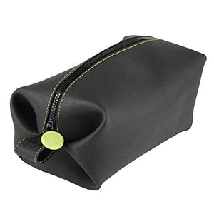 DANDELION Silicone Travel Bag Leak Resistant silicone Dopp Kit Washable Silicone Toiletry Bag Must have Travel Accessory And Perfect Gift for Travelers or Gym Lovers Color Dark Gray And Green