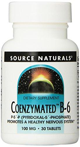 Source Naturals Coenzymated B-6 100Mg, Promotes A Healthy Nervous System,30 Tablets