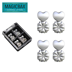 Allstar Innovations Magic Bax Earring Lifters - (2 Pairs Of Sterling Silver Plated Earring Backs)