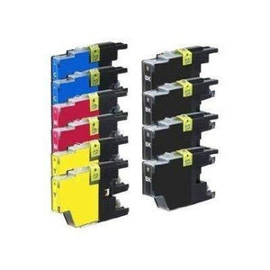 Generic 10 High Yield Compatible Ink Cartridge Combo, Lc75 (4Xbk, 2Xc, 2Xm & 2Xy)