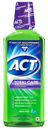 Act Total Care Rinse Mouthwash Fresh Mint 18 Ounce Anticavity Fluoride Mouthwash