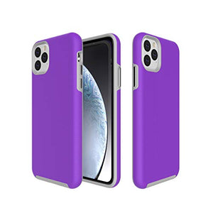 Bear Motion For Iphone 11 Pro Max - Shockproof Tpu/Pc Fusion Cover Case For Apple Iphone 11 Pro Max (Purple, Iphone 11 Pro Max)