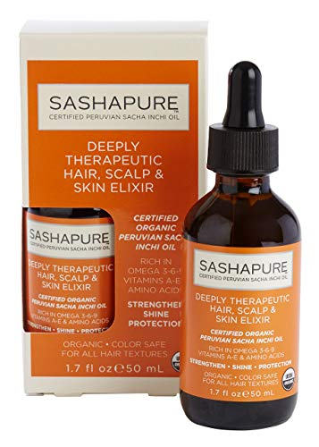 SASHAPURE Deeply Therapeutic Hair Scalp & Skin Elixir 1.7 Ounce (50ml), Strengthen, Shine, Protection, Stimulate Hair Growth