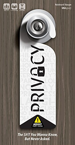 Privacy - Adult Party Game | 18+ Board Game | Fun Drinking Game to play with Friends | Reveal your friends secrets with the hilarious Privacy Card Game | Anonymously Answer NSFW Questions