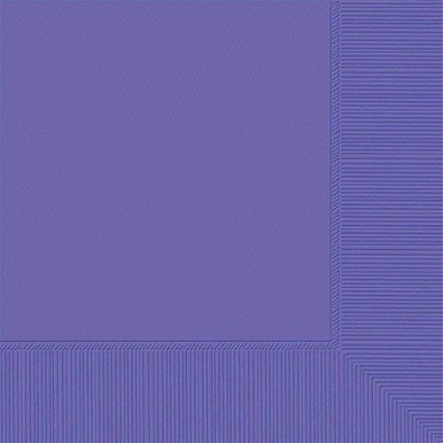 Amscan 3-Ply New Purple Beverage Napkins, 50 Ct. | Party Tableware
