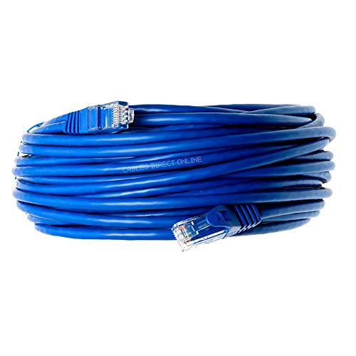 Cables Direct Online Snagless Cat5e Ethernet Network Patch Cable Blue 10 Feet