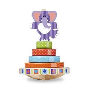 Melissa & Doug First Play Wooden Elephant Rocking Stacker (6 Pcs)