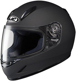 HJC CL-Y Youth Motorcycle Helmet (Matte Black, Large)