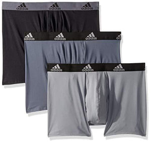 Adidas Men'S Climalite Boxer Briefs Underwear (3-Pack), Onix/Black Black/Onix Grey/Black, Medium