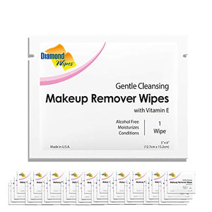 Gentle Makeup Remover Cleansing Face Wipes €€Œ Facial Towelettes With Vitamin E For Waterproof Makeup €€Œ Individually Sealed Wrappers Bulk Buy Pack Of 500